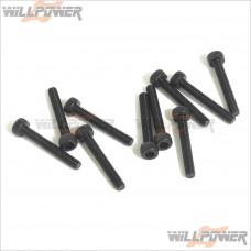 HOBAO Hex Socket Head Cap Screws M3x20mm #32320 [Hyper MINI ST/RC Screws]