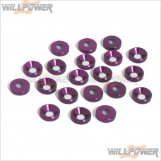 Alum. 3mm Countersink Washer [RC Screws] [Countersunk Screws]