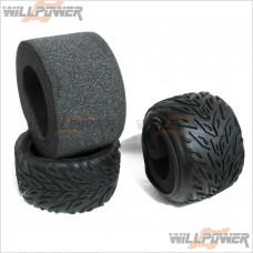 HOBAO Monster Truck Tyres Tires w/ Foam #BT-502 [Hyper MT]