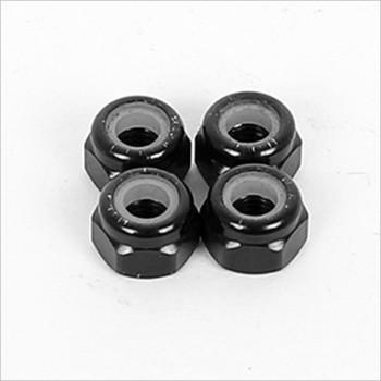 ARC 3mm Nylon Nut-Black Alu (4) #R115001