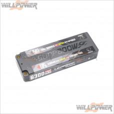 7.6V/6300MAH 2s2p 120C/60C Race LiPo Battery
